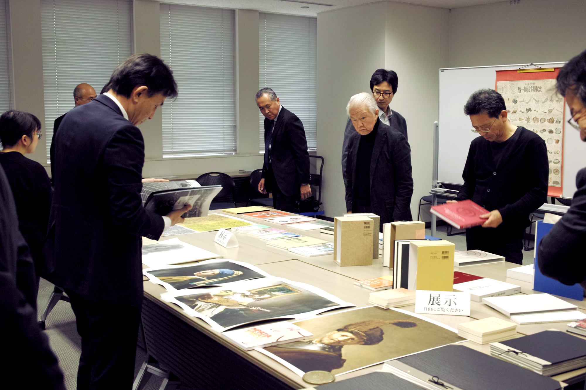 11月16日の企業アーカイブセミナーで展示された社史や現物資料の数々