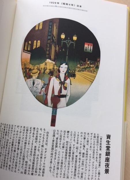 「東京新風景 銀座之夜景」と題された宣伝用うちわ=1929年(昭和4年)